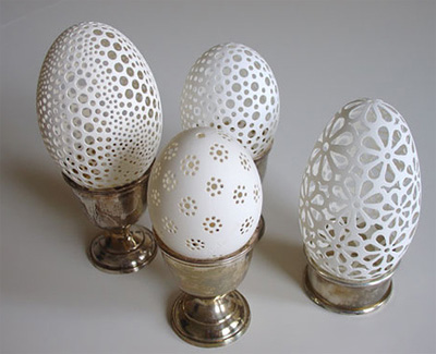 Egg Art by Franc Grom :  art handmade pierced egg