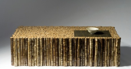 yellow birch coffe table